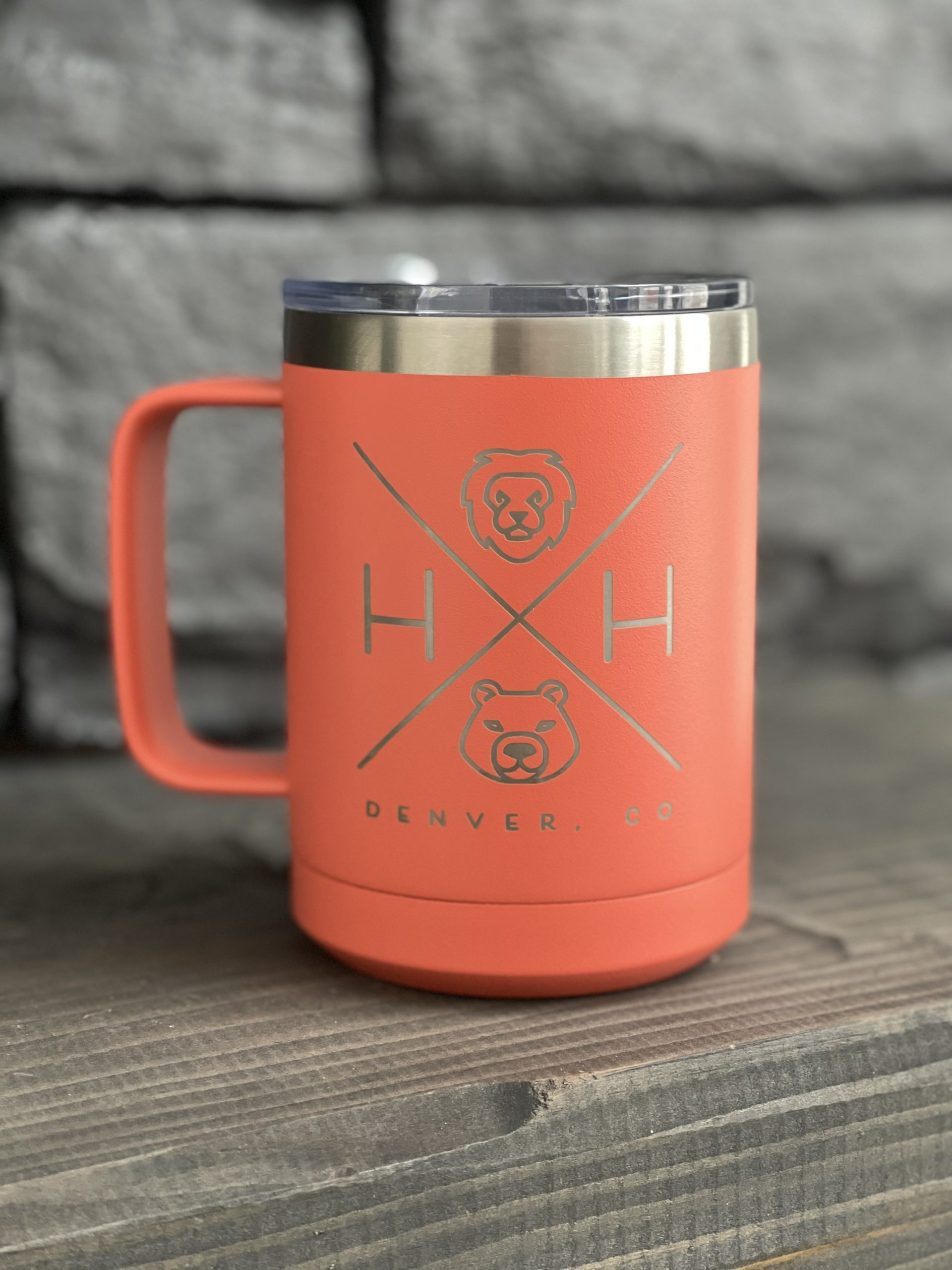 15 oz coral travel mug
